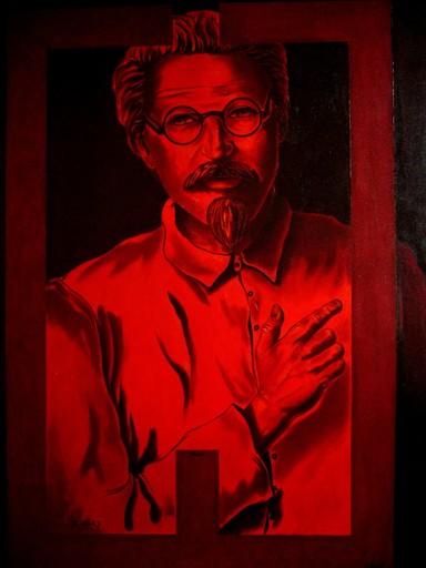 Rafael DE TOURS - Peinture - Karlequin Version 2 : Leon Trotski