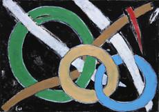 """Elie BORGRAVE - Pintura - """"Rythme de nos jours"""""""