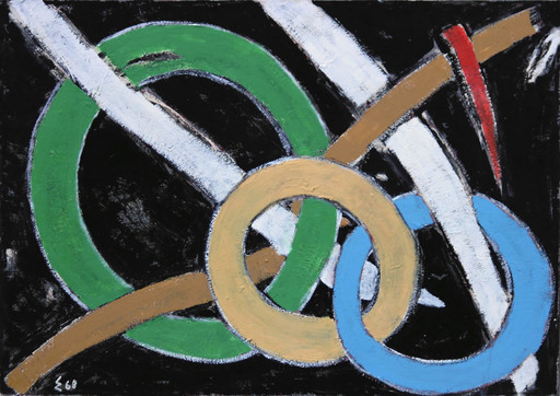 """Elie BORGRAVE - Gemälde - """"Rythme de nos jours"""""""
