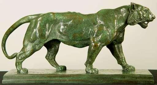 Antoine Louis BARYE - Sculpture-Volume - Tigre Qui Marche