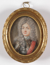 "Hans Georg ASAM - Miniatura - ""Portrait of a Bavarian Prince"", Miniature, late 1690s"
