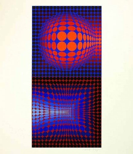 Victor VASARELY - Estampe-Multiple - Gordes Vega Pauk