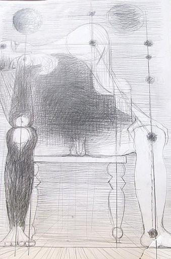 Karl KLUTH - Dibujo Acuarela - Männlicher sitzender Akt.