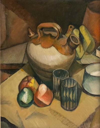 Jean Hippolyte MARCHAND - Painting - Nature morte à la cruche cubiste