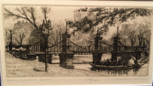 Leonard MERSKY - Print-Multiple - Public Gardens, Boston