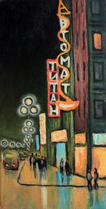 Valeriy NESTEROV - Painting - Titan cinema. Leningrad