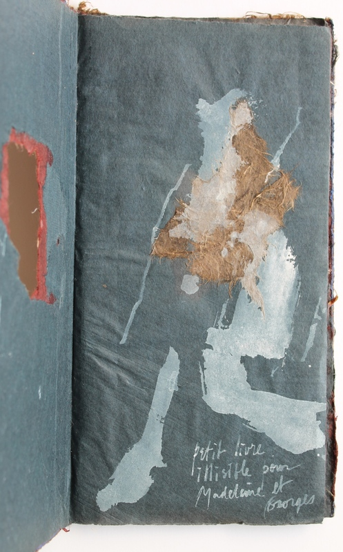 John-Franklin KOENIG - Drawing-Watercolor - Petit livre illisible