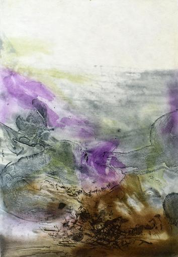 赵无极 - 版画 - Composition VII, from: Canto Pisan