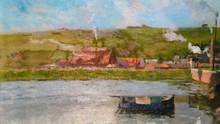 Elie Anatole PAVIL - Painting - Bord de Canal