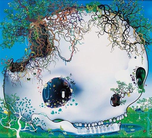青岛千惠 - 版画 - The Fountain of the Skull