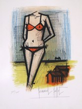 Bernard BUFFET - Estampe-Multiple - *Orange Bikini