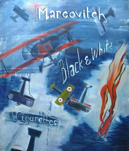 Dis Mariano BERLIN - Painting - Batalla aérea