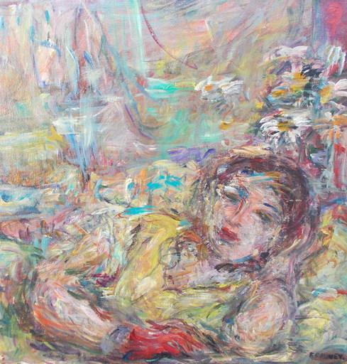 Françoise FAUVET - Pintura - Femme alanguie
