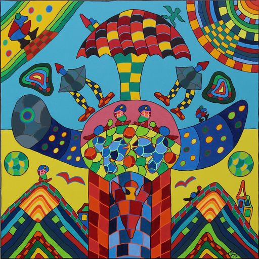 Michael JANSEN - Pintura - Die Unruhe des Innenlebens