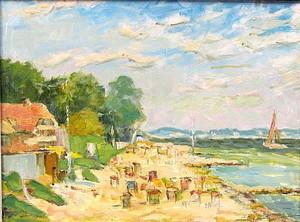 Walter BRÜGGMANN - Painting - Ostseestrand bei Sierksdorf.