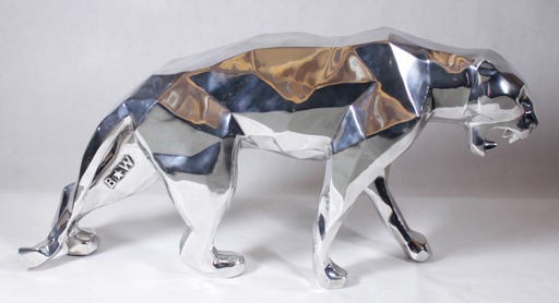 Richard ORLINSKI - Sculpture-Volume - Wild panther, Aluminium