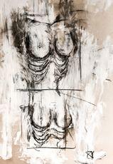 Guillaume KALT - Drawing-Watercolor - Bustes de femmes    (Cat N° 6162)