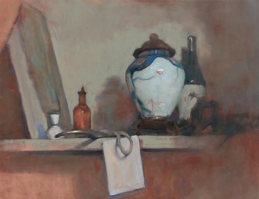 Antoine VINCENT - Gemälde - Le vase Chinois