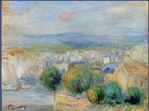 Pierre-Auguste RENOIR - Painting - Port et ville, vus d´une fenêtre