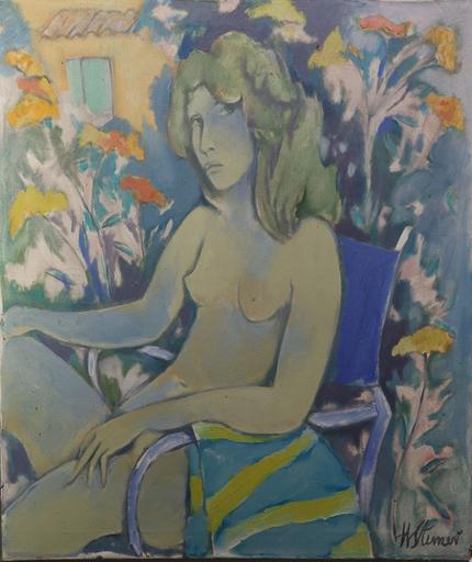 Heinrich STEINER - Gemälde - Lucia in den Blumen