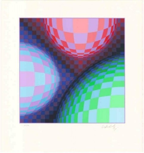 Victor VASARELY - Estampe-Multiple - Phoenix Constellation