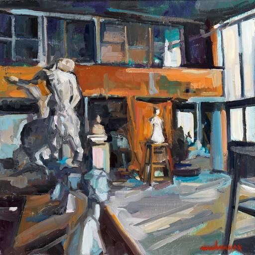 Carole MELMOUX - Painting - Scène atelier 6 Atelier de Bourdelle