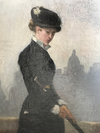 Solomon Joseph SOLOMON - Painting - Presumed portrait of his sister Henrietta Lowy Solomon at 18