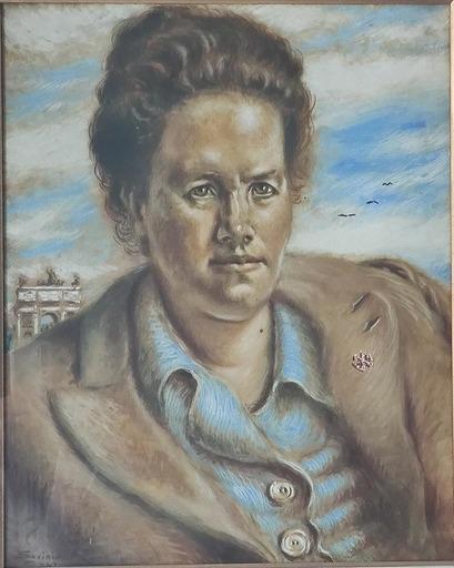 Alberto SAVINIO - Painting - Ritratto di Margherita delle Gioie