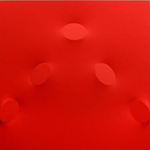 Turi SIMETI - Pittura - 5 ovali rossi