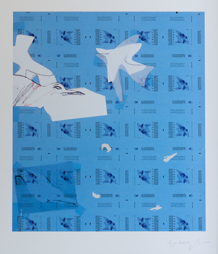 """Pierre BURAGLIO - Print-Multiple - A Jean-Jacques Rousseau"""""""