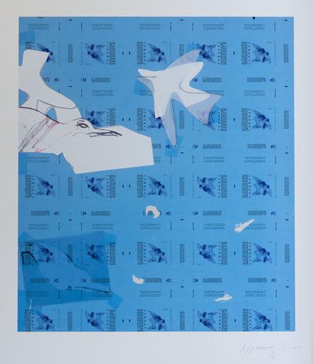"Pierre BURAGLIO - Stampa Multiplo - A Jean-Jacques Rousseau"""