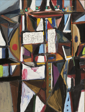 George CONDO - Painting - VERTICAL ABSTRACTION