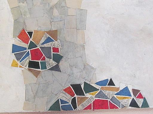 Arnold FIEDLER - Disegno Acquarello - Modell für Eingangsstützwand