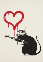 BANKSY - Estampe-Multiple - Love Rat