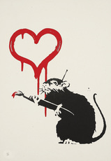 BANKSY - Estampe-Multiple - Love Rat