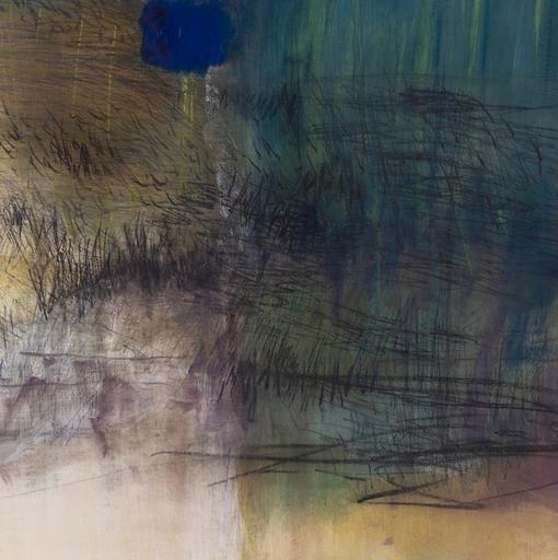 Célia EID - Peinture - Bleu sur herbe