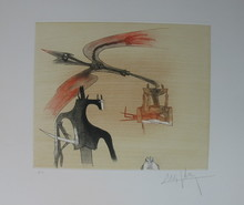 Wifredo LAM - Grabado - Sans Titre, Plate Number 7