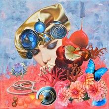 Laetitia DE GAULLE - Painting - Muse baillonée