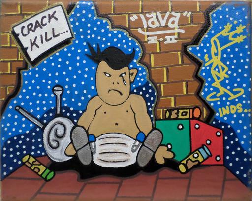 LAVA I AND II - Peinture - Lava I and II Crack Kills