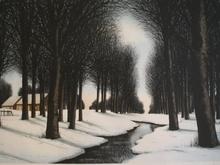 Jacques DEPERTHES - Grabado - La rivière sous la neige,1985.