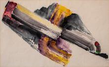 Erich BUCHHOLZ - Zeichnung Aquarell - o. T. (Abstrakte Komposition)