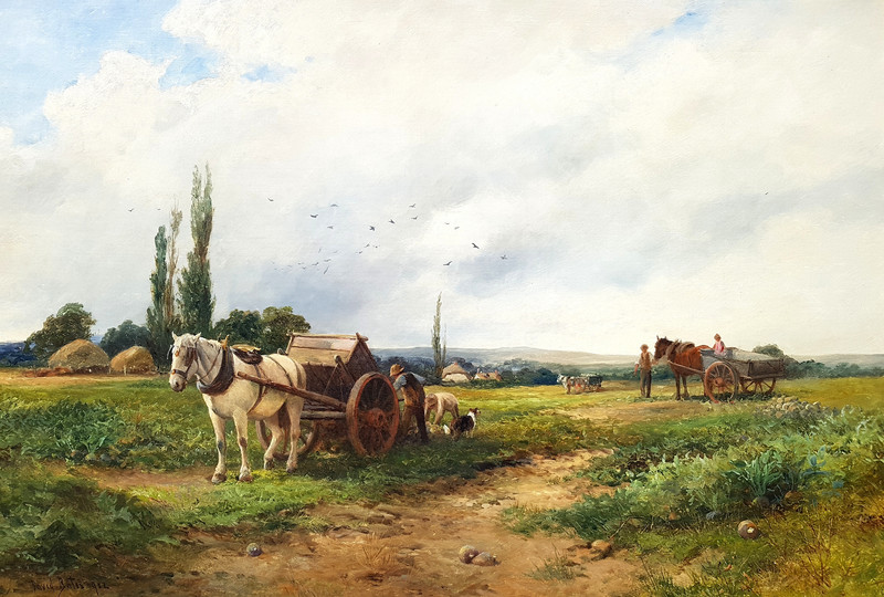 David BATES - Painting - Loading the Crop