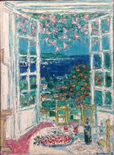 André COTTAVOZ - Painting - Vue de la terrasse à Vallauris