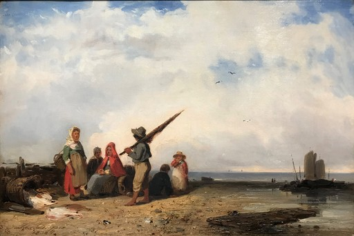 Jules DUPRÉ - Pintura - Coastal scene