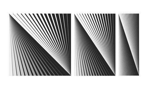 Marcello MORANDINI - Sculpture-Volume - Triptych 470B