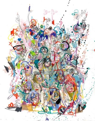 Michael ALAN - Drawing-Watercolor - The Dead Walking