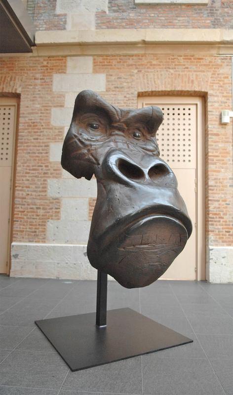 Quentin GAREL - Sculpture-Volume - Masque de gorille monumental