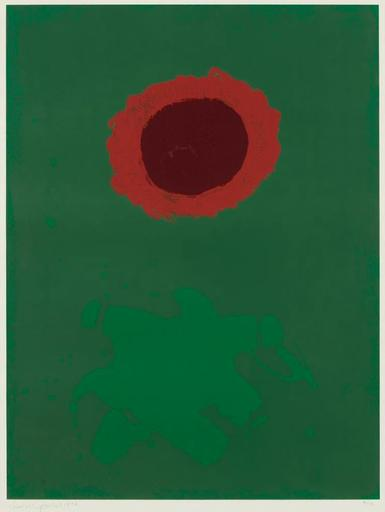 Adolph GOTTLIEB - Estampe-Multiple - Chrome Green, 1972