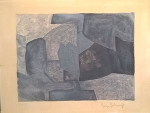 Serge POLIAKOFF - Stampa Multiplo - Composition grise n°59