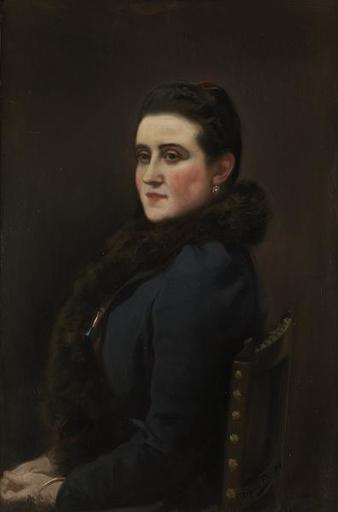 Cecilio PLA - Pintura - Dama sentada